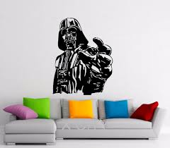 giant darth vader sticker star wars poster children bedroom wall