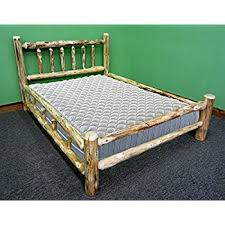 Log Queen Bed Frame Amazon Com Hand Crafted Queen Bed Kitchen U0026 Dining