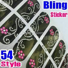 54style nail art bling rhinestone wraps wrap sticker decal 3d