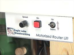motorized router lift