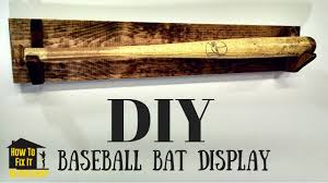 Flag Display Case Plans Simple Diy Baseball Bat Display Rack Youtube