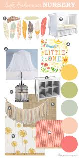 Boho Crib Bedding by Mood Board A Soft Bohemian Nursery Baby Days At Sears