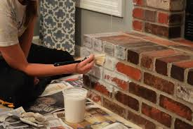 How To Make Light Brown Paint by How To Whitewash Brick Our Fireplace Makeover Loving Here