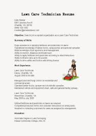 Customer Service Resume Sample Skills by Lawn Care Technician Cover Letter