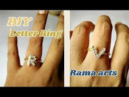 letter ring how to make letter ring jewellery tutorials youtube