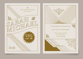 wedding invitations vector brown vintage deco wedding invitation vector template
