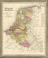 Map Of Holland Map Of Holland And Belgium 1850 Mitchell And Cowperthwait U2013 Shaw