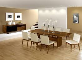 modern dining room tables trendy beige floor dining room photo in miami adorable living