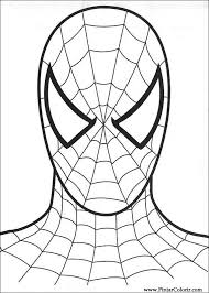 drawings to paint u0026 colour spiderman templates 2 pinterest
