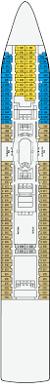 carnival triumph floor plan pacific dawn deck 6 deck plan tour