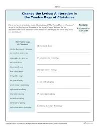 the twelve days of christmas printable 6th 8th grade