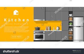 interior design modern kitchen background vector stock vector