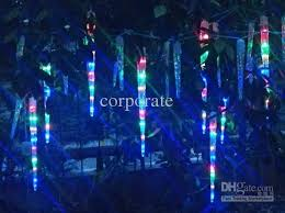 cheap icicle lights led falling meteor light 4 meter 8