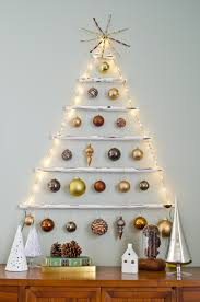 How To Put Christmas Lights On A Tree by Diy Wall Christmas Tree Ideas For Small Spaces Miss Alice Designs