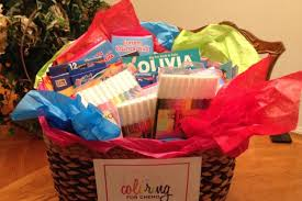 Chemo Gift Basket Fundraiser By Olivia Vogel Help Support Coloring For Chemo