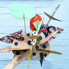 make giant recycled cardboard sculptures awesome open ended art