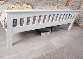 serene amelia 3ft single white wooden bed frame by serene furnishings
