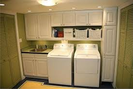 Laundry Room Sinks With Cabinet White Cabinet Laundry Room With Sink Home Interiors
