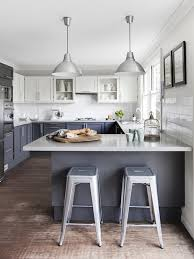 White Cabinets Dark Grey Countertops White Upper Cabinets Dark Lower Cabinets Contemporary Kitchen