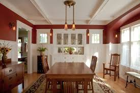 Craftsman Sconces Built In Dining Room Buffet Ideas Dining Room Craftsman With Wall