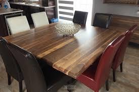 table cuisine en bois table cuisine bois brut lusinequebec carre noyer boismassif