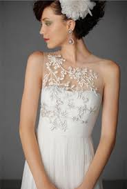 illusion neckline wedding dress fall 2013 trend illusion necklines preowned wedding dresses