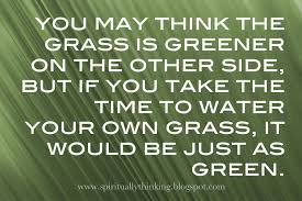 jealousy quotes and images the grass is always greener on the other side of the fence