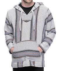 baja sweater senor punta logo palmita grey burgundy navy poncho zumiez