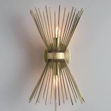 chandeliers design wonderful brass starburst logan wall sconce