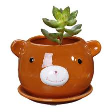 7 different animal shaped succulent planters just in time for spring