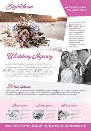 wedding flyer wedding agency psd flyer template 18563 styleflyers