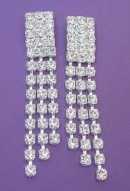 rhinestone chandelier earrings clip earrings made with swarovski rhinestones