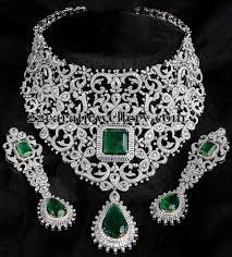 diamond set bridal attire white gold diamond set jewellery designs