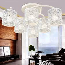 light white color iron shade shabby chic ceiling lights