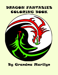 dragon fantasies coloring book