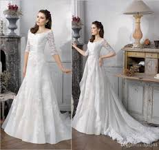 bridal gowns online 2016 new wedding dresses detachable applique lace half