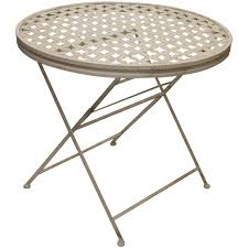 metal folding table outdoor woodside round metal table furniture outdoor value