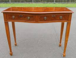 Yew Side Table Sold Yew Serpentine Front Two Drawer Side Table
