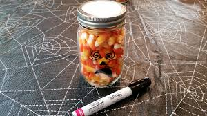 halloween glass jars great halloween gifts mason jars made into candy corn pumpkins