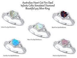 ebay rings opal images Fire opal heart cut promise infinity celtic birthstone sterling jpg