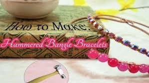 bangle bracelet diy images How to make hammered bangle bracelets diy jewelry making tutorial jpg