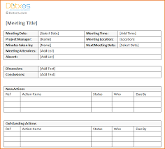 3 meeting minute templates teknoswitch