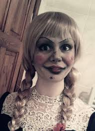 creepy doll costume annabelle from the conjuring annabelle disguise make