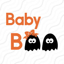 baby boo svg cute ghost svg boo svg halloween svg cut table