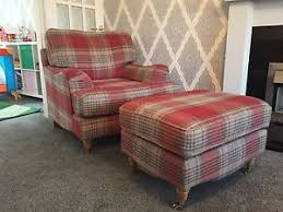 Next Armchair Next Ophelia Armchair Stirling Check Tartan Wool Blend