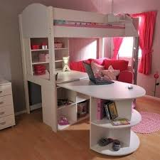 High Sleeper With Sofa And Desk Fascinating Bunk Bed With Desk And Medium Size Of Stylish