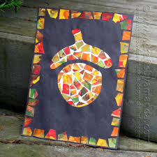Cool Thanksgiving Crafts For Kids Mosaic Acorn Recipe Mosaics Autumn And Craft