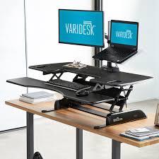 standing desk pro plus series desk converters varidesk