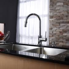 Pictures Of Kitchen Sinks And Faucets by Stainless Steel Kitchen Sink Combination Kraususa Com