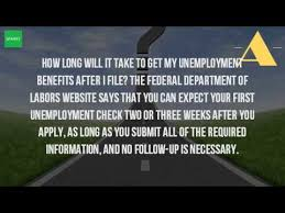 how long does it take to get unemployment benefits youtube
